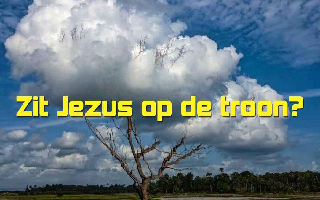 Zit Jezus op de troon?